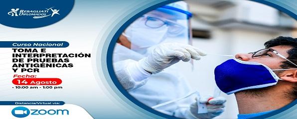 CURSO NACIONAL TOMA E INTERPRETACION DE PRUEBAS ANTIGENICAS Y PCR