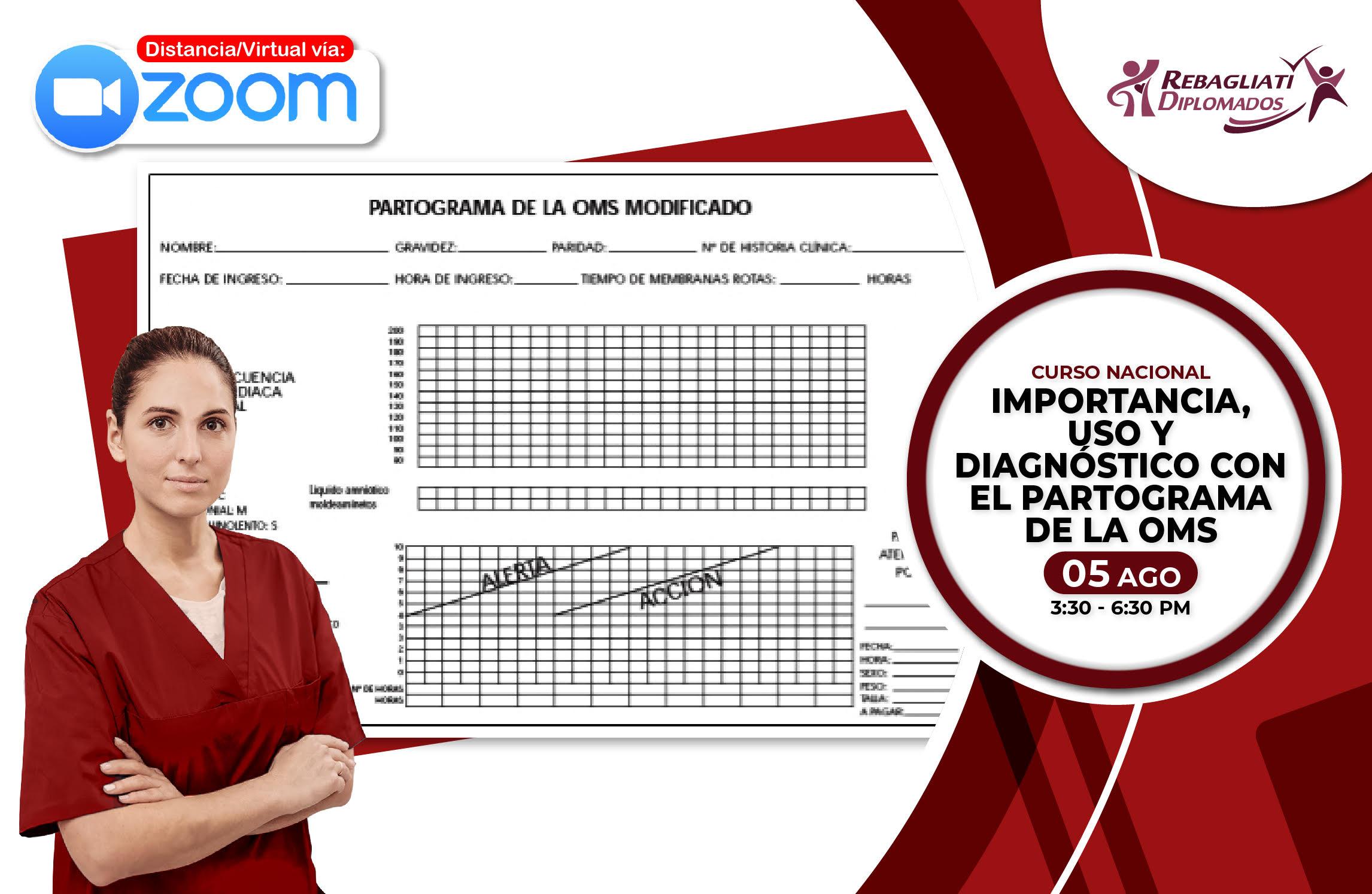 CURSO NACIONAL IMPORTANCIA , USO Y   DIAGNÓSTICO CON EL PARTOGRAMA DE LA OMS