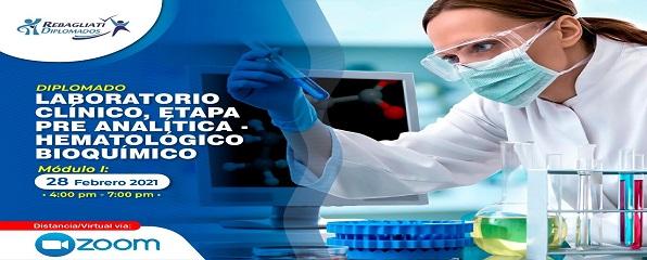 DIPLOMADO LABORATORIO CLÍNICO, ETAPA PRE ANALÍTICA - HEMATOLÓGICO BIOQUÍMICO