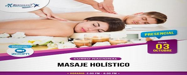 """CURSO TALLER NACIONAL """"MASAJE HOLÍSTICO"""""""