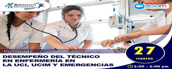 DIPLOMADO DESEMPEÑO DEL TÉCNICO EN ENFERMERÍA EN LA UCI, UCIM Y EMERGENCIAS